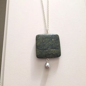 2 for $55 / Green Stone Necklace